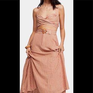 NWT Free People Casablanca Striped Skirt set